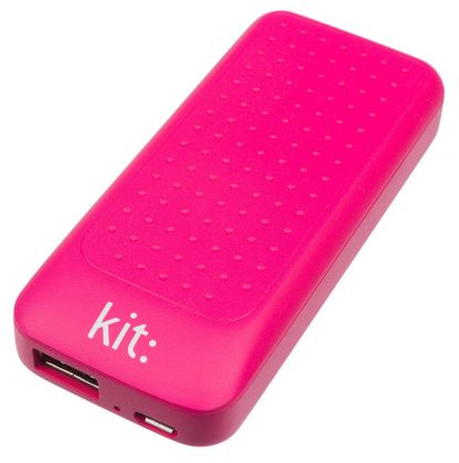 Kit 4000 mAh Universal Portable Power Bank with Two USB Ports - Pink