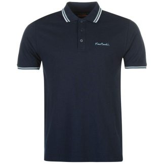 Pierre Cardin Tipped Polo Shirt Mens Navy M