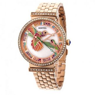 Bertha Emily MOP Bracelet Watch - Rose Gold