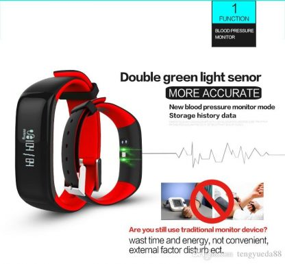 Smart Wristband P1 Bluetooth Smartband Blood Pressure Monitor