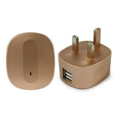 Kit 4000 mAh Universal Portable Power Bank with Two USB Ports - Pink