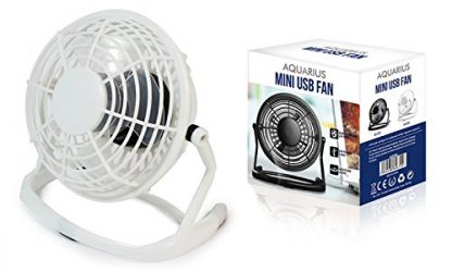 Aquarius USB Mini Fan, Quiet/Noise Free Operation, Compact & Portable Design Fan, Perfect For Laptop Notebook PC Desk Table Fan, For Office, Home & Much More Use