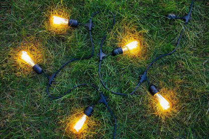 Lumisky MAFY Vintage Decorative Outdoor Garland with 10 Sockets Copper E27 Black 7m