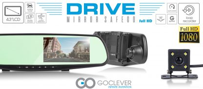 Goclever CAR REARVIEW MIRROR WITH DOUBLE DRIVING RECORDER (front and rear)