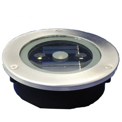 Recessed floor light LED round 12cm solar