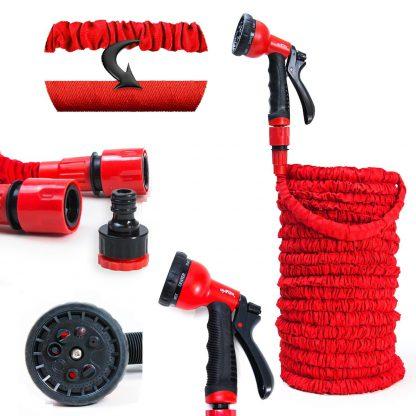 Grafner Flexible Garden Hose Water hose flexible hose with nozzle