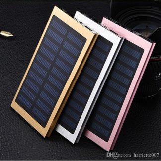 Universal 12000mah Solar USB Portable External Battery Power Bank Charger