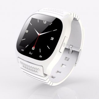 Model M26 Bluetooth Wrist Smart Watch Phone Fitness for Android iOS white