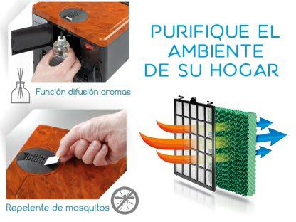 Climatizador Ionizer Heater Humidifer anti Mosquito aroma difuser Lufthous ION PROTEC LH SLIM