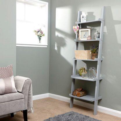 Grey Ladder Style Wall Rack