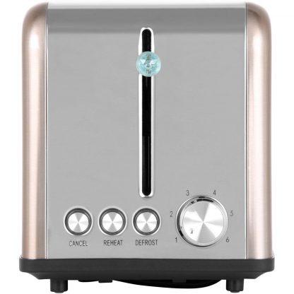 Swan 2 Slice S/S Copper Twist Toaster ST19010TWN