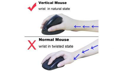 2.4GHz Wireless Ergonomic Vertical Mouse Optical Mouse