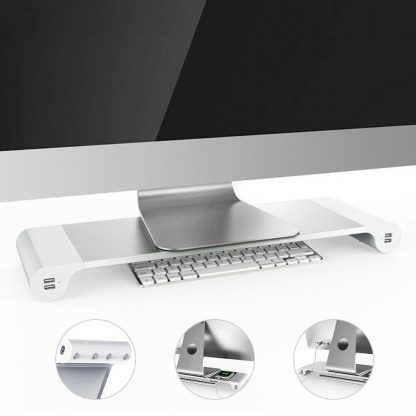 Kawkaw SpaceBar monitor stand with 4 USB-Slots