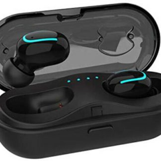 Mini Wireless Earbuds TWS Bluetooth Headset Charging Case, Touch Control V5.0